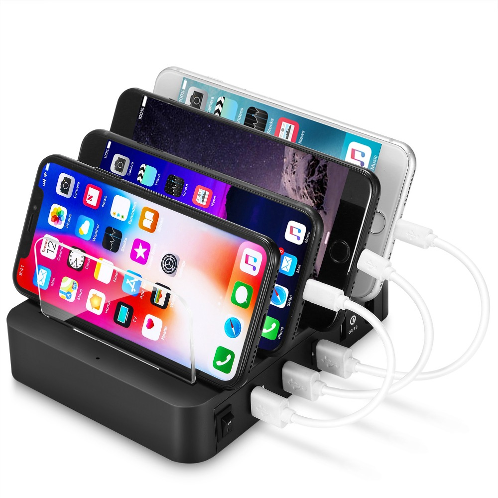 Image 5 - 4 Ports USB Hub Universal Multi Device Charging Station Fast Charger Docking 24W for iPhone iPad Samsung Galaxy LG Tablet PC HTC-in Mobile Phone Chargers from Cellphones & Telecommunications