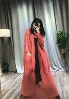 Miyake раза комплект из двух предметов Плиссированные Длинные рукава ветровка + большой качели контраст co платье без рукавов в наличии