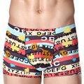 Hot Fashion Sexy Modal Boxer Men's Underwear Printing Silk Seamless Boxer Underwear Toot Men Underwear XXXL Plus Size