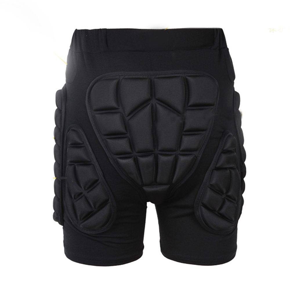New 1PCS Black Skiing Skating Snowboarding   Shorts   Hip Protective Bottom Padded For Ski & Roller Skate & Snowboard Hip Protection