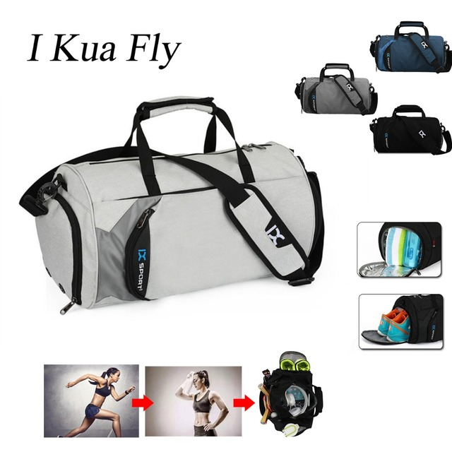 NEW Gym Bag Men Yoga Fitness Folding Sport Bags Outdoor Travel Bag Hand Luggage with Separate Space For Shoes Lady Women Fitness