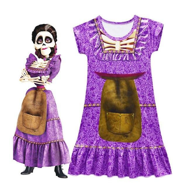 26ce8214fa01e 3-11 Years Summer Baby Girls Dresses Kids Pixar Movie COCO Imelda Cosplay  Costume Children Dress Christmsa Party Costume
