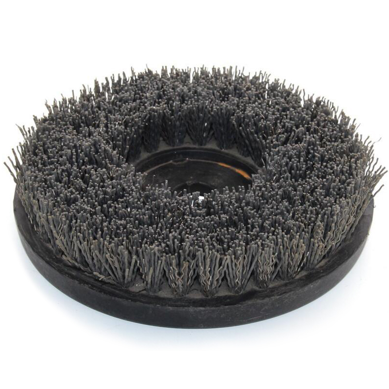 RIJIIEI 8 inch Round Antique Abrasive Brush Compound Brush Stone Polishing Brush for granite finishing cleaning YG11