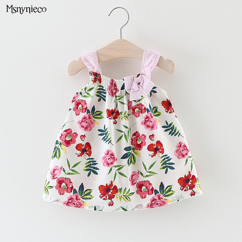 Baby Girls Dress 2017 Brand Summer Style Bow Infant Dresses For Girls Vintage Toddler Girl Clothing vestido infantil