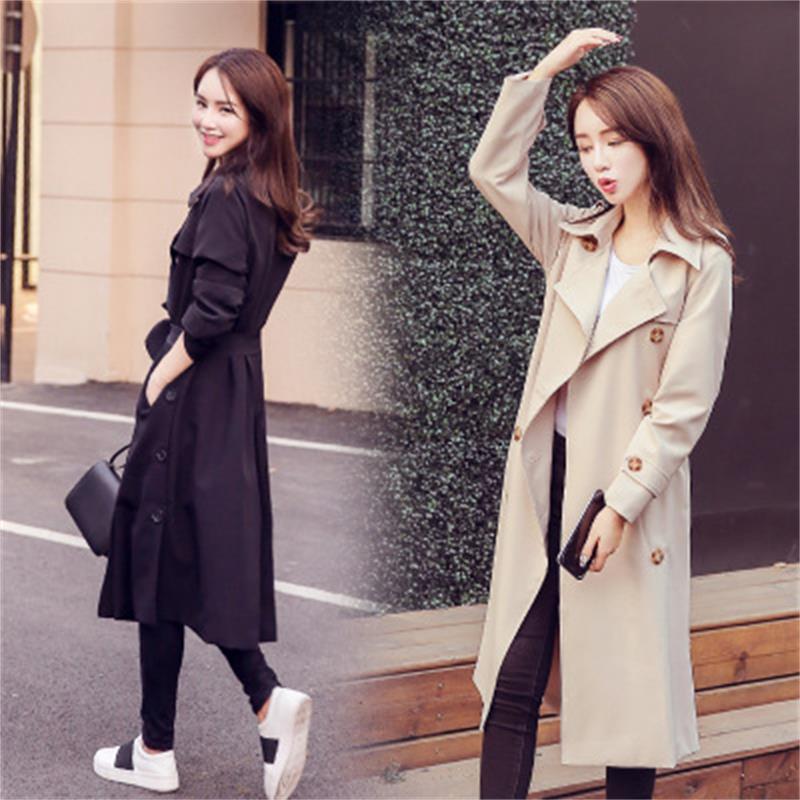 Women Windbreak new fashionable autumn spring casual trench coat women long female wind breaker outerwear plus size
