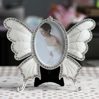 3 5 Inch Auger Butterfly Metal Photo Frames With Diamonds Table Photo Picture Framework Picture Wedding