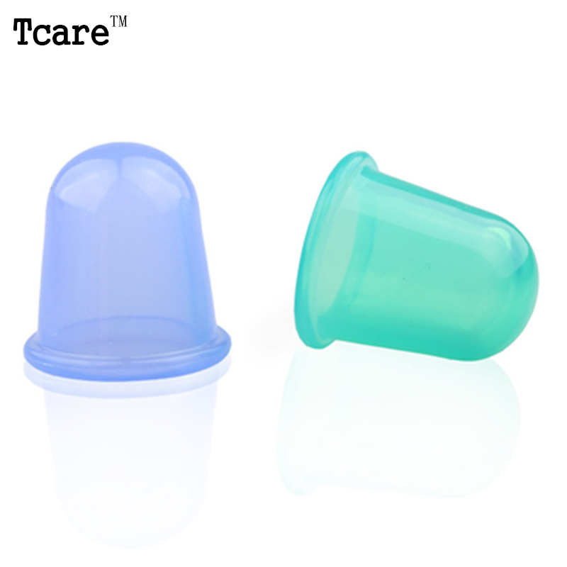 Tcare Beauty Health Care Small Body Cups Anti Cellulite Vacuum Silicone Massage Massager Cupping Cups 2 Pcs/Lot