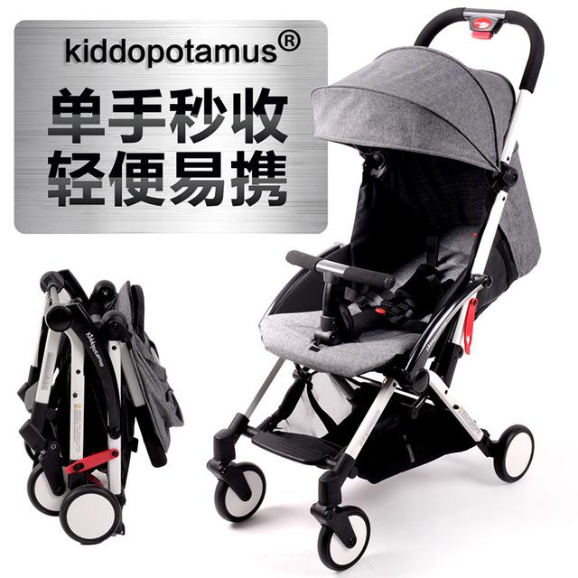 Kiddopotamus carrinho de bebê ultra portátil dobrável carrinho de guarda-chuva carro pode sentar em crianças de embarque portátil