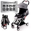 Kiddopotamus coche paraguas cochecito de bebé plegable ultra portátil puede sentarse en los niños cochecito de embarque portátil