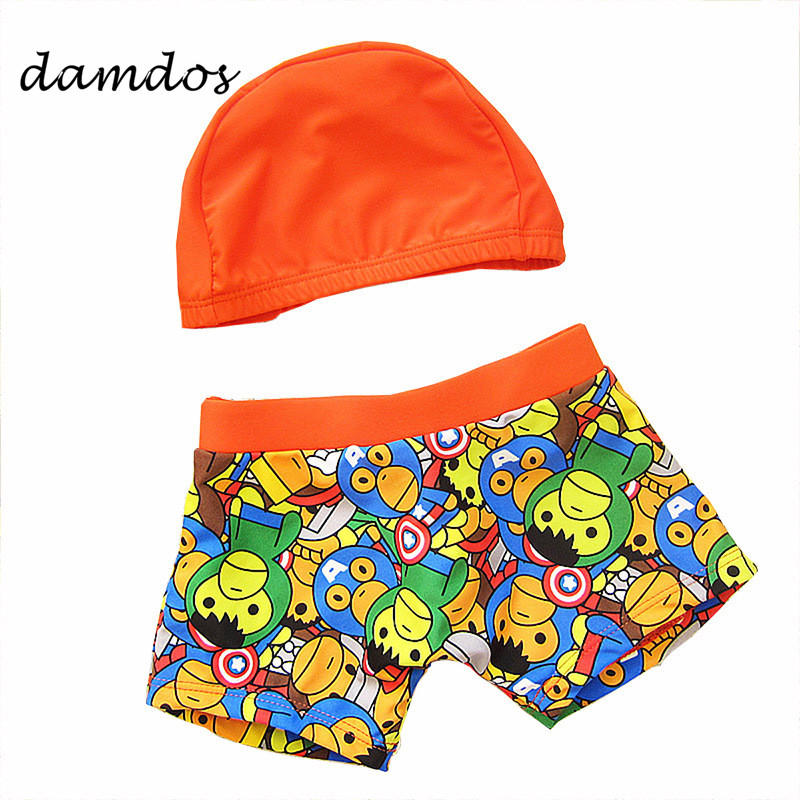78685ab73b Detail Feedback Questions about 2019 Boy Swimsuit Swimming Cap Spiderman  Swimwear Children's Swimming Trunks Boys Briefs Baby Bathing Suits 2T 12T with  Cap ...