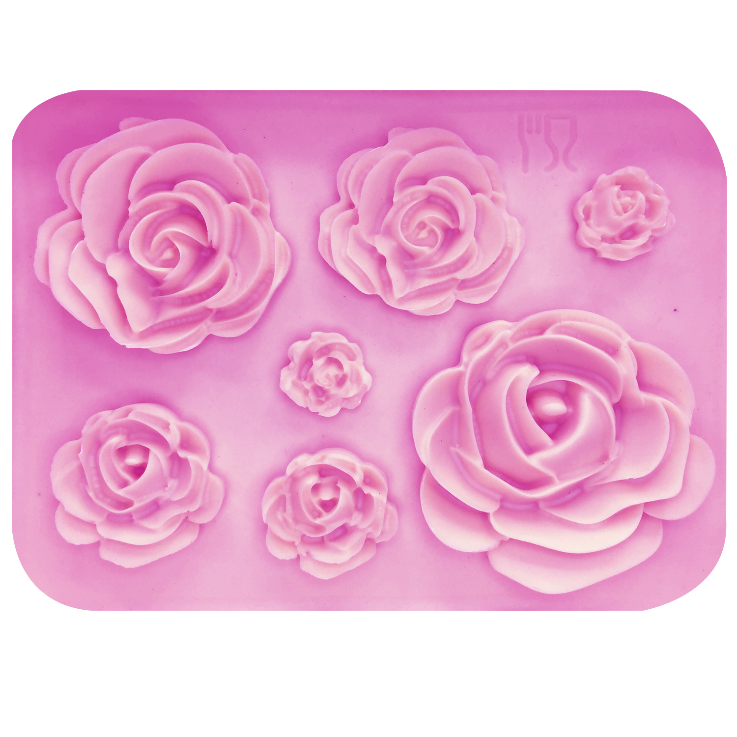 ALIJIAYING M1023 Rose Flowers Silicone Mold Chocolate