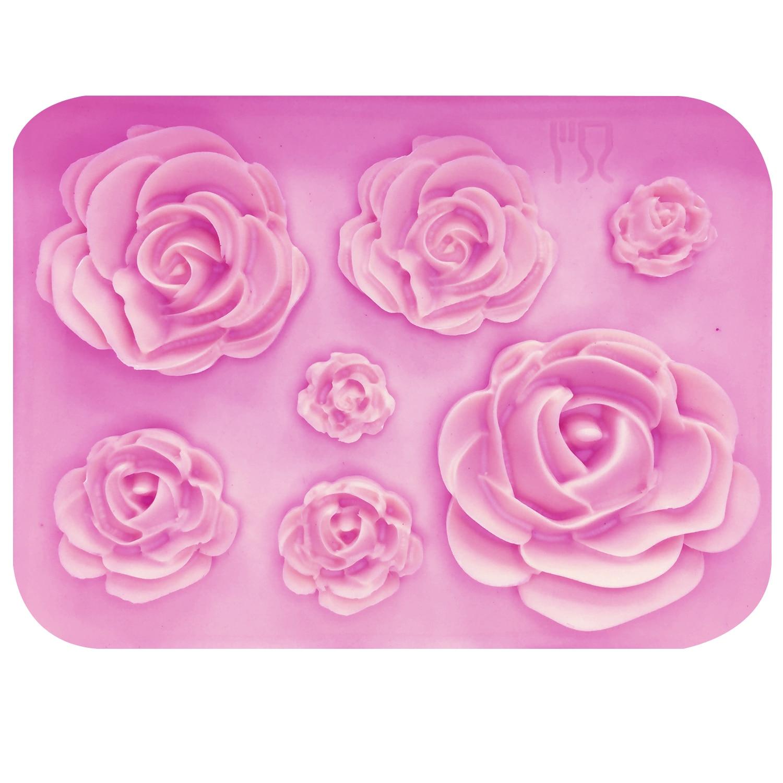 Rose Flowers Silicone Fondant Mold