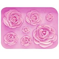 Molde de tarta de chocolate de silicona M1023 de rosas  herramientas de decoración de pasteles de boda  Fondant  molde de pastel de azúcar|Moldes para pasteles| |  -