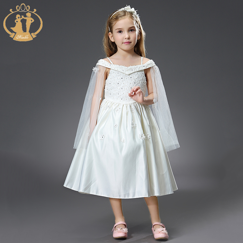 Nimble princess dress for girls vestido vetement enfant fille unicorn party dress robe fille kids dresses for girls summer cloth new arrival princess girl dress party wedding birthday kids tutu dress for girls dresses clothes summer 2017 robe fille enfant