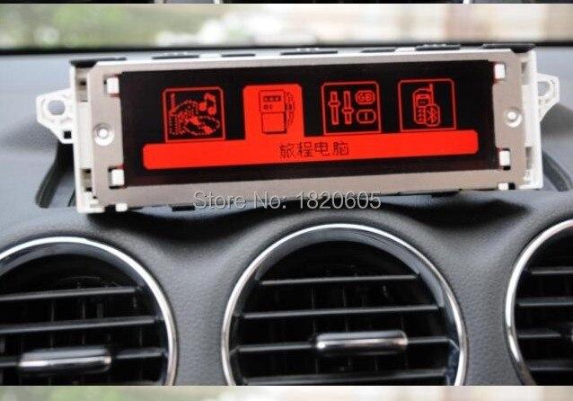5Pcs Original factory Red screen support USB Bluetooth 4 menu Display monitor 12 pin for Peugeot 307 407 408 for citroen C4 C5