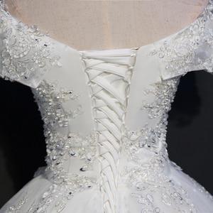 Image 5 - Fansmile Real Photo Luxury Lace Ball Wedding Dresses 2020 Customized Plus Size Vintage Bridal Gown Vestido de Noiva FSM 075F