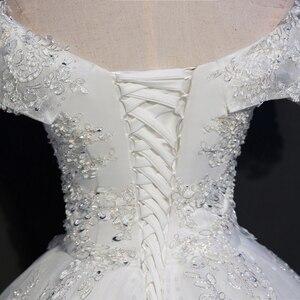 Image 5 - Fansmile foto Real de encaje de lujo vestidos de boda de bola 2020 personalizado de talla grande Vintage Vestido de novia FSM 075F