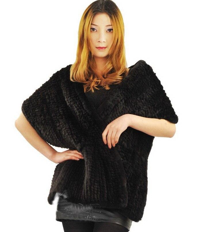 2017 New Arrival Thick Rex Rabbit fur shawl Knit Wedding fur shawl  Women Fur Wrap Cape  Winter Big Long Knit  Thick Soft Scarf