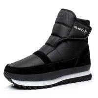 2019 New Men Boots Warm Plush Ankle Boot Waterproof Snow Boots Winter Shoes Men Shoes Slip on Male Shoes Adult Boots Men 39 S