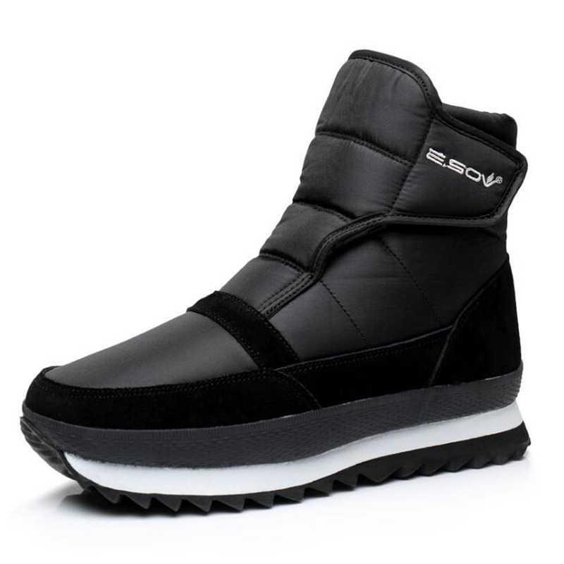 2019 Nieuwe Mannen Laarzen Warme Pluche Enkellaars Waterdichte Snowboots Winter Schoenen Mannen Schoenen Slip-on Man Schoenen volwassen Laarzen Mannen 39 S