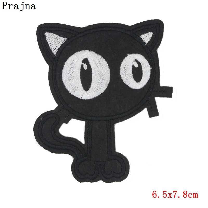 Prajña Custom Leuke Lucky Cat Patch Decals Ijzer Op Geborduurde Patches Voor Kleding rugzak Goedkope Vogel Uil Eenhoorn Patch Applique