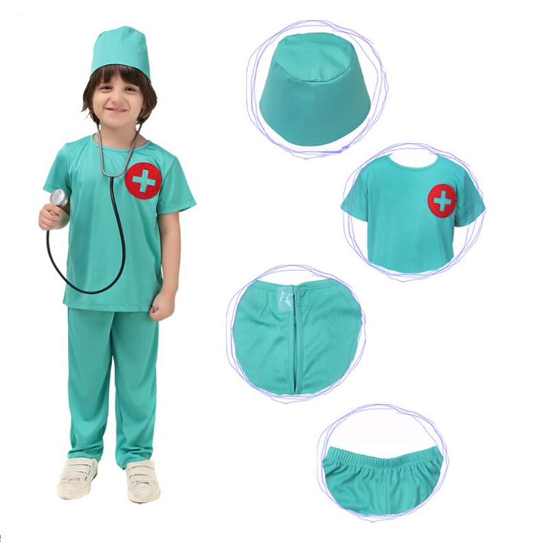 Halloween Party Cosplay New Style Carnival Cosplay Costume Party Clothing For Kids Doctor