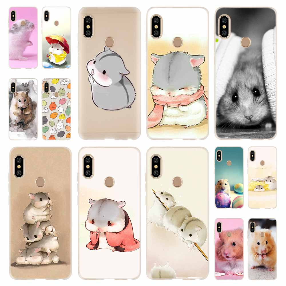 <font><b>Rabbit</b></font> mouse Hamster Fashion Soft TPU Case Cover For Coque <font><b>Xiaomi</b></font> <font><b>Redmi</b></font> 4A 5A 6A 4X 5 Plus <font><b>6</b></font> Pro Note 7 <font><b>6</b></font> 4 4X 3 5 image
