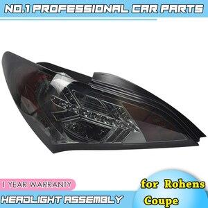 Acessórios do carro para hyundai rohens coupe luzes traseiras 2009-2012 coupe led luz da cauda lâmpada traseira drl + freio + parque + sinal