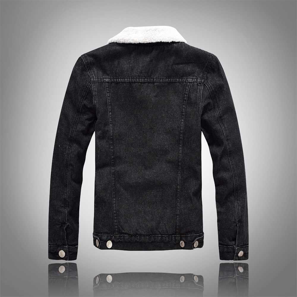 7c50e655c132 ... NJIANJEEP 2018 High Quality Denim Jacket Men Winter Black Male Bomber Jacket  Fashion Men Jacket Plus ...
