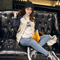 2017 осень и зима новый колледж одежда женская утолщение Кофты пальто студентки L XL XXL XXXL пальто