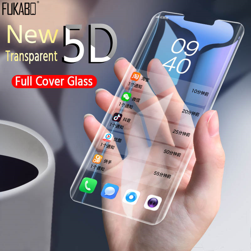 5D Full Cover Screen Protector Glass For Huawei Mate 20 Pro 10 Lite Tempered Glass For Huawei P30 Lite Pro Protective Glass Film