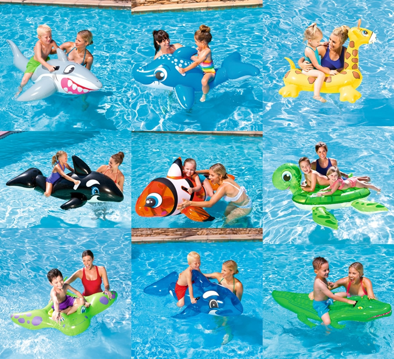 Baby Swimming Ring Shark Seat Inflatable Flamingo Swan Pool Float Baby Summer Water Fun Pool Toy