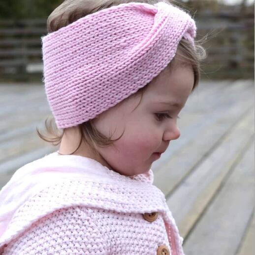 Mädchen Kinder Stricken Häkeln Turban Stirnband Warme Knoten