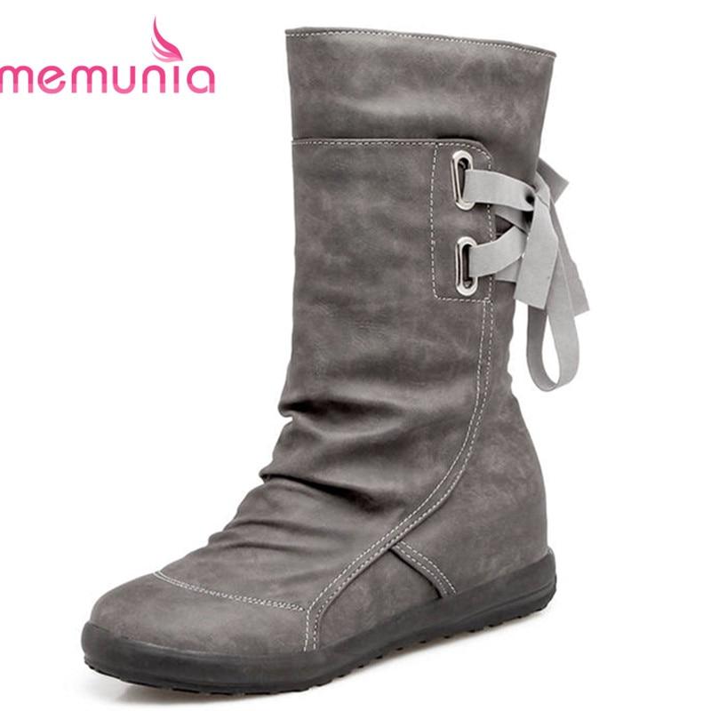 d83e8786a7c Moda gris Dedo Invierno Zapatos Brown Otoño Negro light Botas Resbalón Mujer  Cómodas De Del Felpa En Señora Bajo Pie Becerro Corta Nueva ...