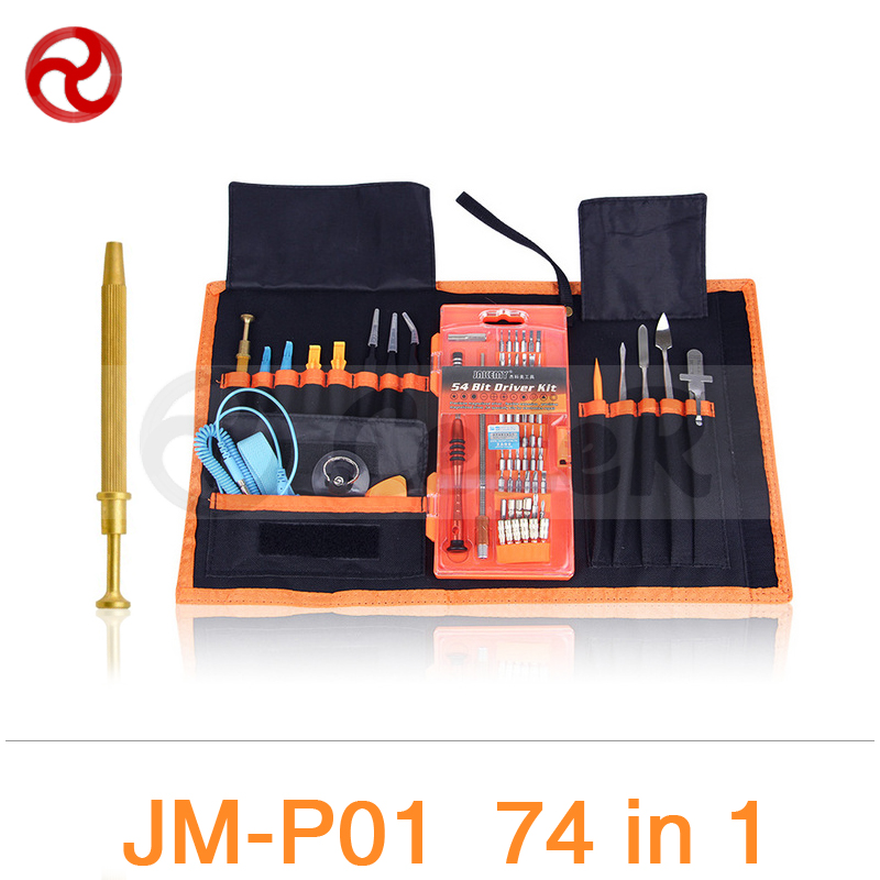JAKEMY 74 in 1 Electronic Repair Tool Kit iPhone Smartphone Laptop Computer Electrical Magnetic Precision Screwdriver Set JM-P01 jakemy 73in1 screwdriver set 180adjustable magnetic ratchet laptop computer household auto car mechanic repair tool kit jm 6113