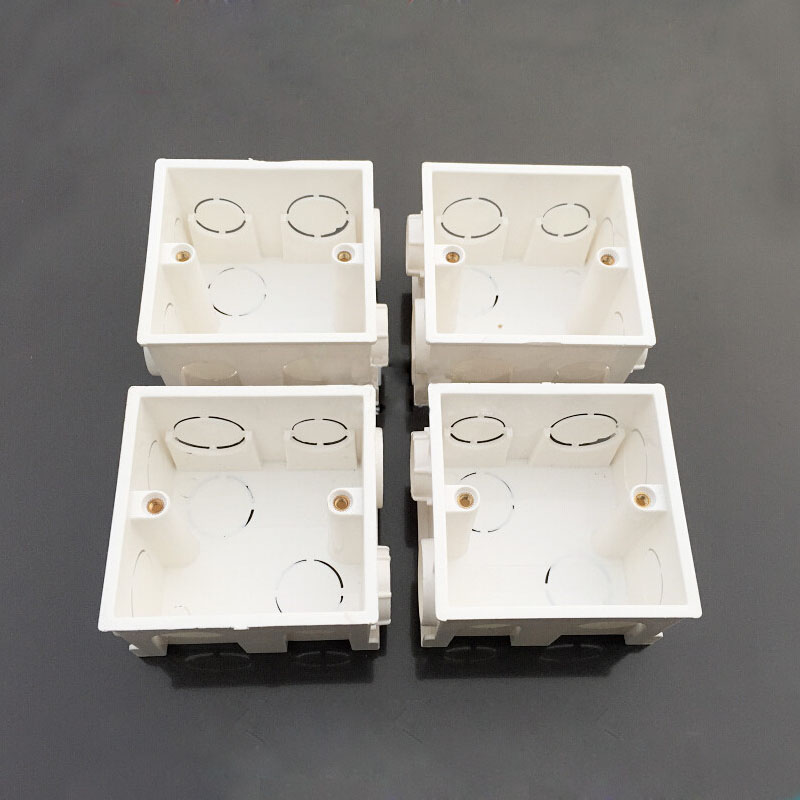 10pcs 86 Type Pvc Electrical Socket Assembled Concealed