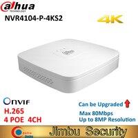 Dahua мини 4 К видеорегистратор Регистраторы NVR4104 P 4KS2 4Ch Smart 1U 4 PoE Порты сети H.265 HD до 4 ТБ 8MP NVR заменить NVR4104 P