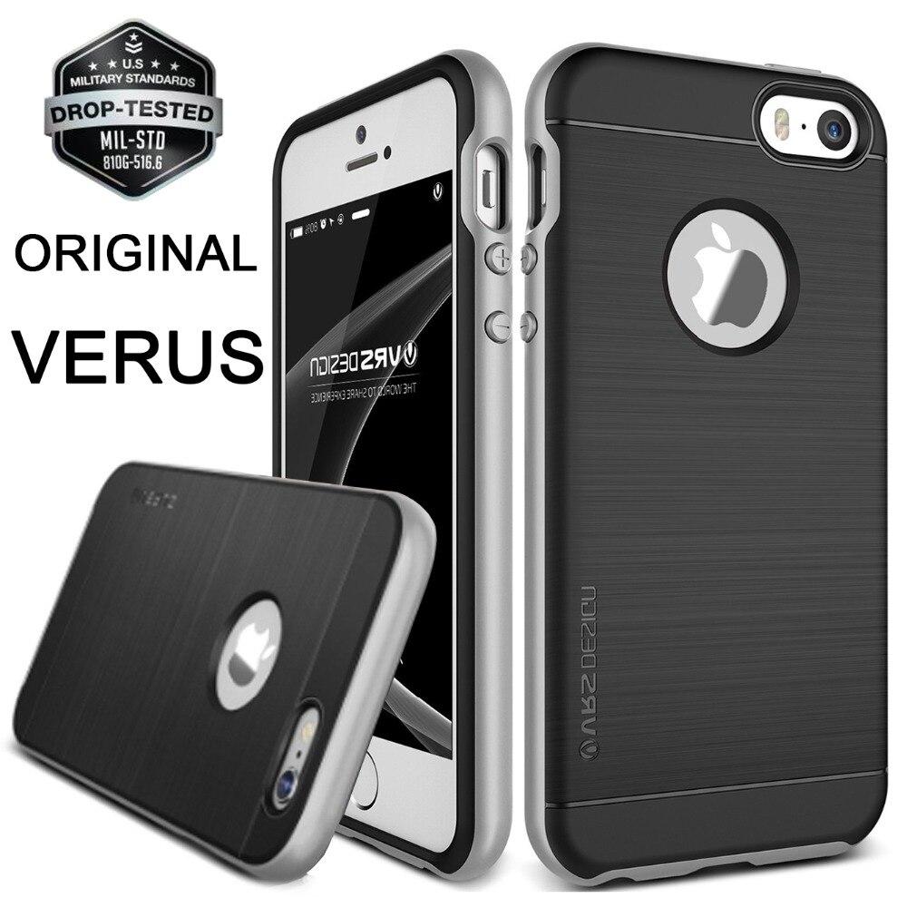 VERUS For Apple iPhone SE Case Hard PC Frame Metal Brushed