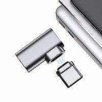 USB c Магнитный адаптер L-наконечник Alumimun кабель преобразователя Тип C до Тип c магнит разъем Поддержка 4.3A max быстрая зарядка Разъем