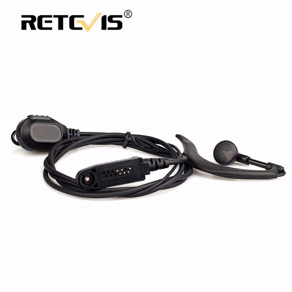 bilder für Neue Schwarz G-Form Ohrbügel-mikrofon Walkie Talkie Retevis RT82 hörmuschel für Retevis RT82 Dual Band DMR Digital radio