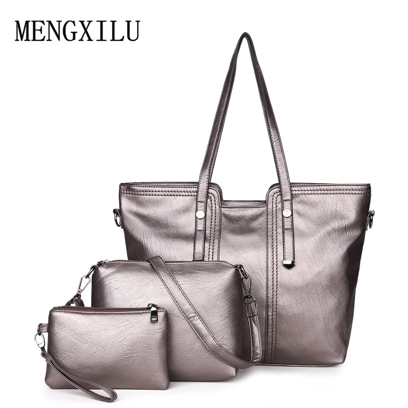 Luxury 3Pcs/Set women handbag crossbody bags pu leather women messenger bags ladies tote bag Sac a Main shoulder hand bag shoulder bags women crossbody bag ladies high quality sheepskin handbags women pu leather plaid messenger bags sac a main