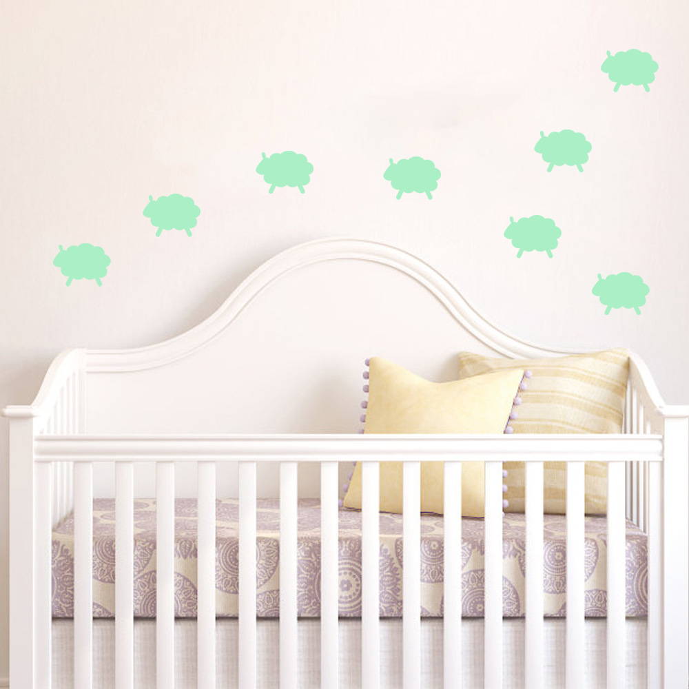 Creative cartoon sheep luminous stickers cute baby room wall decor creative cartoon sheep luminous stickers cute baby room wall decor glow in the dark kids room decoration in wall stickers from home garden on amipublicfo Gallery