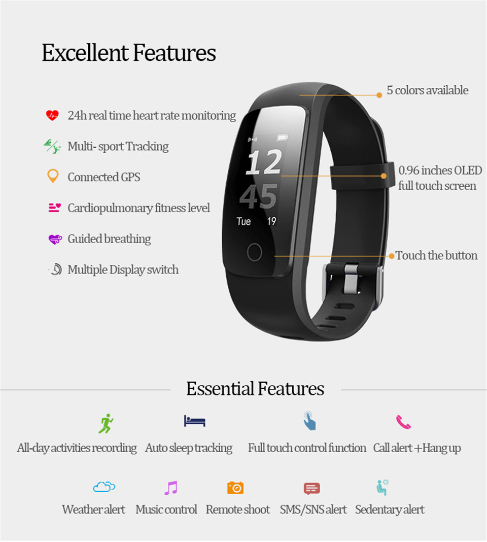 Teamyo ID107 Plus Sport Smart Band Heart Rate Monitor Smart Watch Guided Breathing Fitness Tracker Smart Bracelet Remote Camera 3