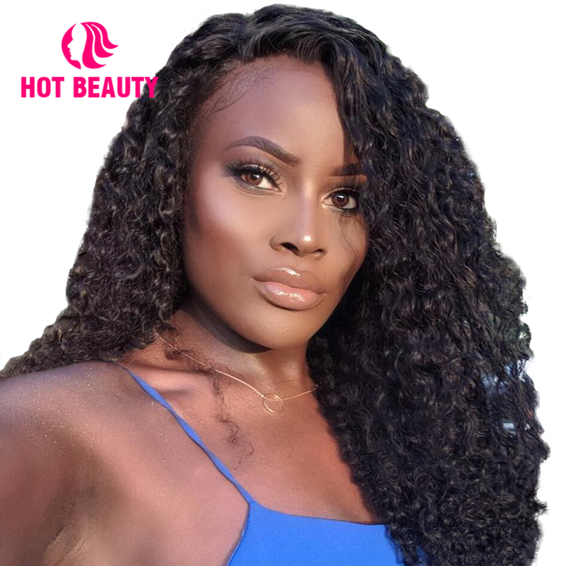 Aliexpress.com : Buy Hot Beauty Hair Curly Human Hair Wig ...