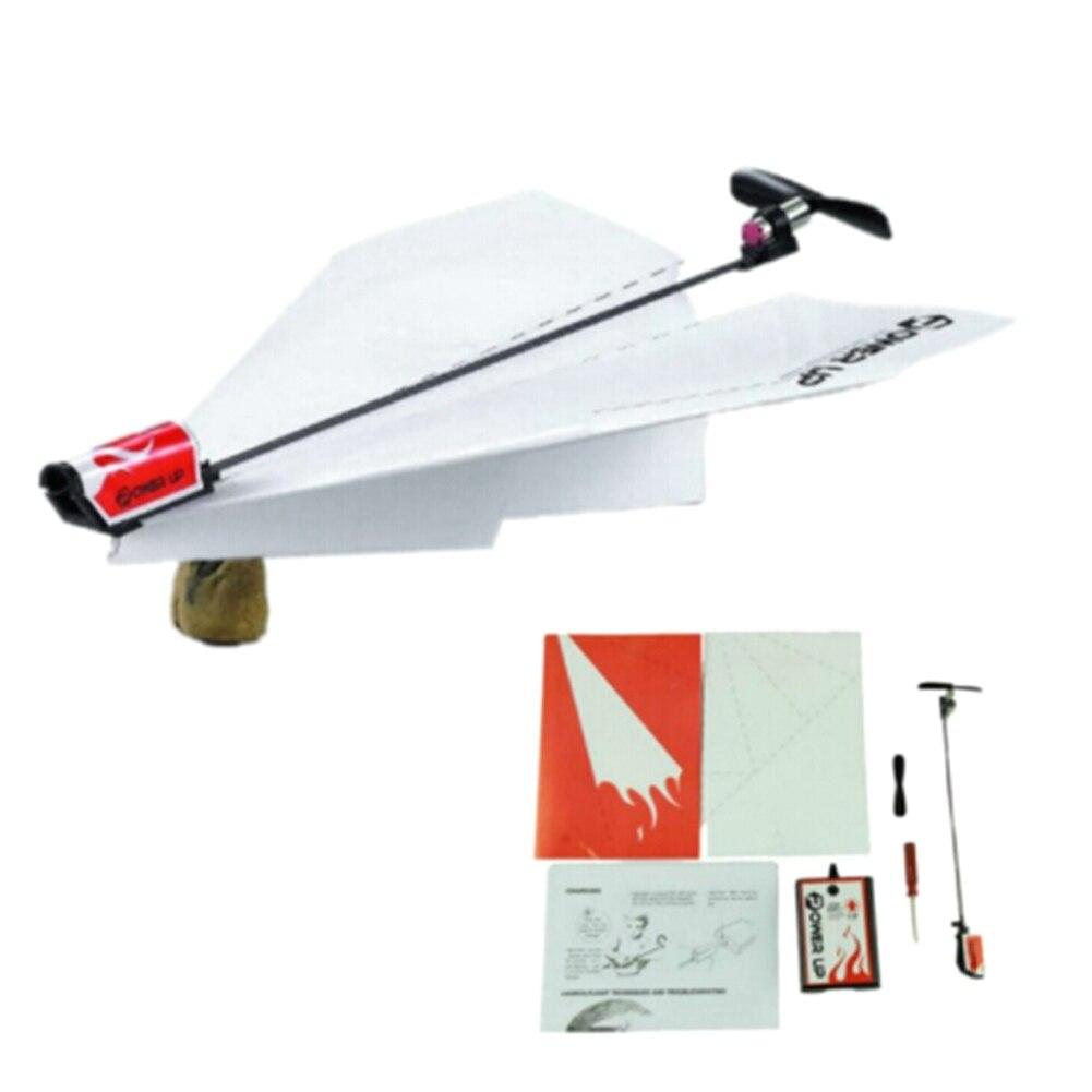 1 Set DIY Papier Électrique Avion Conversion Kit Enfants Jouets Éducatifs Électrique Moteur Papier Avion Modèle Jouet