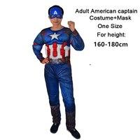 Superhero Batman Ironman Antman adults Muscle Jumpsuits Mask Avengers Superman Spiderman Captain America Mens Cosplay Costume