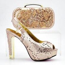 d142f5f9 Zapatos italianos de última moda de estilo con juego de bolsos a juego para  boda y fiesta zapatos africanos y conjuntos de bolso.