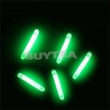 50Pcs Noctilucence Luminous Fishing Float Fishing Night Vision Fluorescent Light Float Glow Stick Lightstick 4.5*37mm