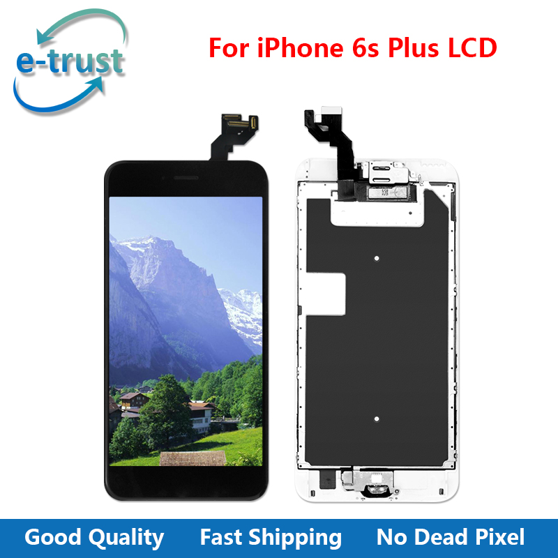 e-trust Grade AAA+ Quality LCD Display For iPhone 6S Plus Touch Screen Digitizer Full Assembly +Home Button+Camera+Free Shipping 3pcs lot quality aaa lcd display for iphone 6s plus lcd screen lg brand digitizer touch assembly lifetime warranty dhl free ship