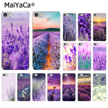 MaiYaCa Simple lavender Purple flowers  DIY  Drawing Phone Case cover Shell for iPhone 7 7plus X XS MAX 6 6S 8 8Plus 5 5S XR ножницы purple dragon 6 0 5 5 diy g005